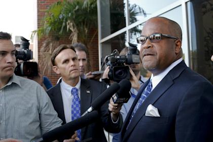 Jameis Winston's adviser David Cornwell speaks with the media after Winston's hearing Tuesday. (AP)