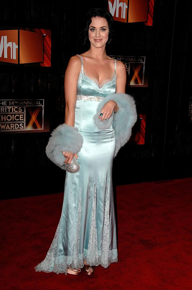 "Singer <a href=""http://movies.yahoo.com/movie/contributor/1810022652"">Katy Perry</a> at the 14th Annual Critics' Choice Awards in Santa Monica - 01/08/2009"