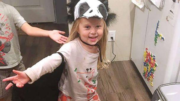 3 year old amputee shows off one of a kind halloween costumes