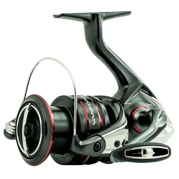 """<p><strong>Shimano</strong></p><p>basspro.com</p><p><strong>$239.99</strong></p><p><a href=""""https://go.redirectingat.com?id=74968X1596630&url=https%3A%2F%2Fwww.basspro.com%2Fshop%2Fen%2Fshimano-vanford-spinning-reel&sref=https%3A%2F%2Fwww.popularmechanics.com%2Fadventure%2Foutdoor-gear%2Fg37171383%2Fbest-spinning-reels%2F"""" rel=""""nofollow noopener"""" target=""""_blank"""" data-ylk=""""slk:Shop Now"""" class=""""link rapid-noclick-resp"""">Shop Now</a></p><p><strong>• Gear ratio: </strong>6.1:1<strong><br>• Weight: </strong>6.3 oz.<strong><br>• Size: </strong>8 lb./140 yards</p><p>There are some features you can expect with a higher-end reel: smooth casting, light weight, quality internal parts, corrosion-resistance, and trademarked names for just about every feature and part on the reel. The Vanford has all that, but the main reason to spend over $200 on this reel is that it's versatile enough to be your one-reel quiver. As Shimano's product description touts, it can be your reel """"from ice fishing to inshore."""" </p><p>Beyond the reassurance of Shimano's reputation for engineering and quality (especially in high-end reels such as the Vanford), you get a two-year warranty period, though the reel should hold up for much longer.</p>"""