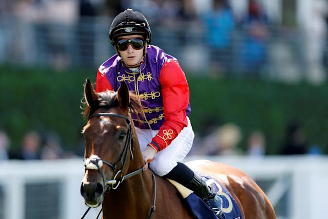 Horse Racing - Royal Ascot - Ascot Racecourse, Ascot, Britain - June 22, 2018 James McDonald on Elector after the 3.05 King Edward VII Stakes Action Images via Reuters/Andrew Boyers