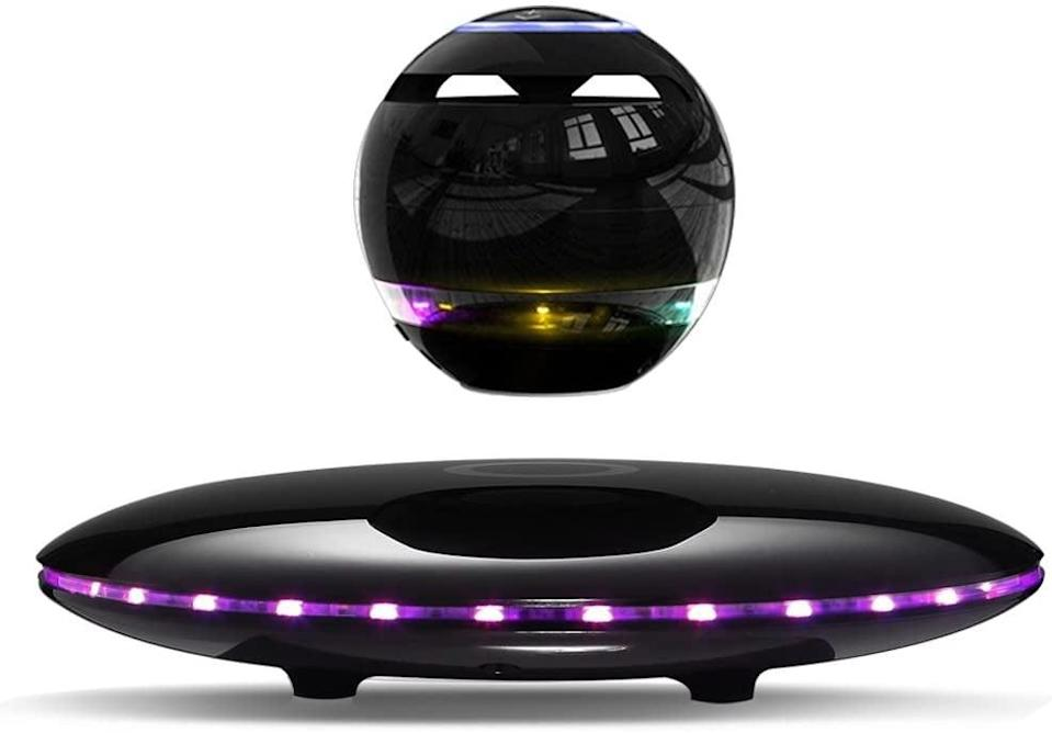 <p>Get the party started with this <span>Infinity Orb Magnetic Levitating Speaker</span> ($88)! The base illuminates continuously different colors, and it has a 3D surround effect.</p>