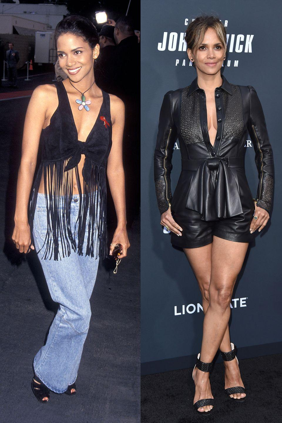 <p>We're here for the fringe top, but we'll accept the leather shorts as a suitable replacement.</p>