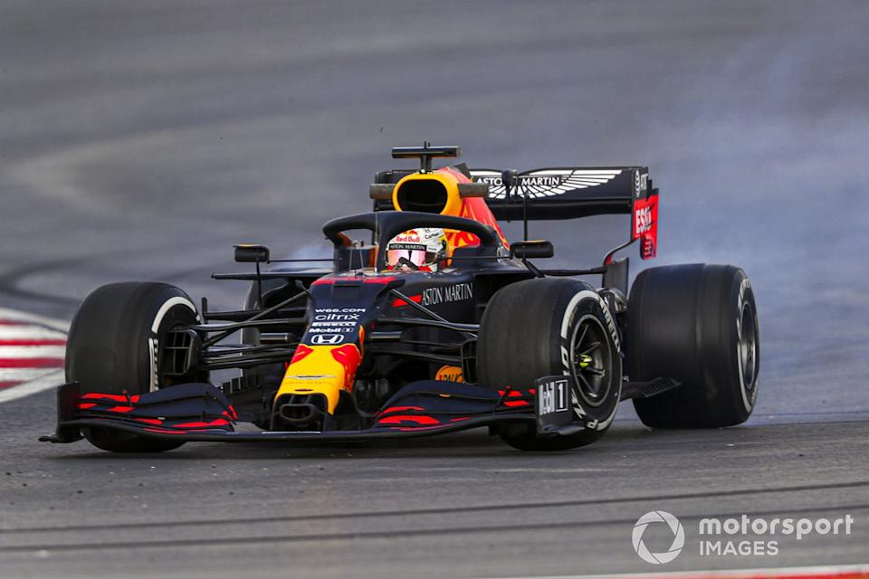 """Trompo de Max Verstappen, Red Bull Racing RB16<span class=""""copyright"""">Charles Coates / Motorsport Images</span>"""