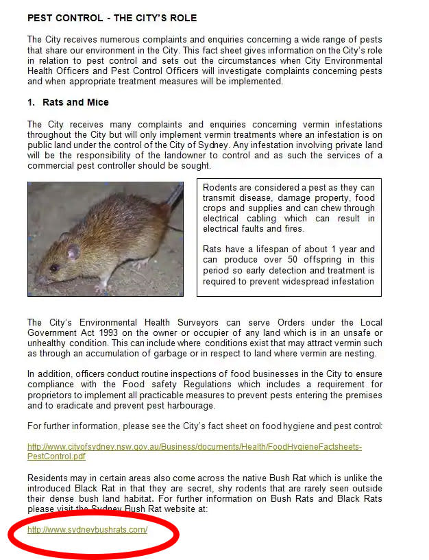 The photo shows the fact sheet about rat diseases which inadvertently linked to a Chinese pornographic website.