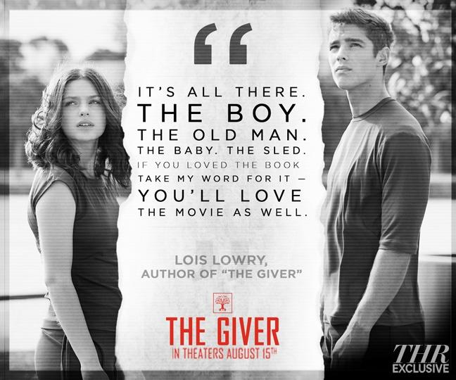 The Giver Poster Assures That Lois Lowry Likes The Movie