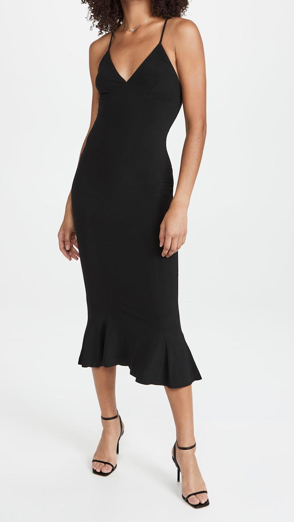 <p>You can't go wrong with a little black dress. This <span>Norma Kamali Slip Fishtail Dress</span> ($215) is an essential, and you can wear it for everything.</p>