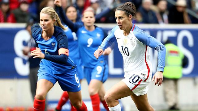 "<a class=""link rapid-noclick-resp"" href=""/olympics/rio-2016/a/1124307/"" data-ylk=""slk:Carli Lloyd"">Carli Lloyd</a> isn't as influential as she once was, but she's still a key component of the U.S. women's national team. (Sporting News)"