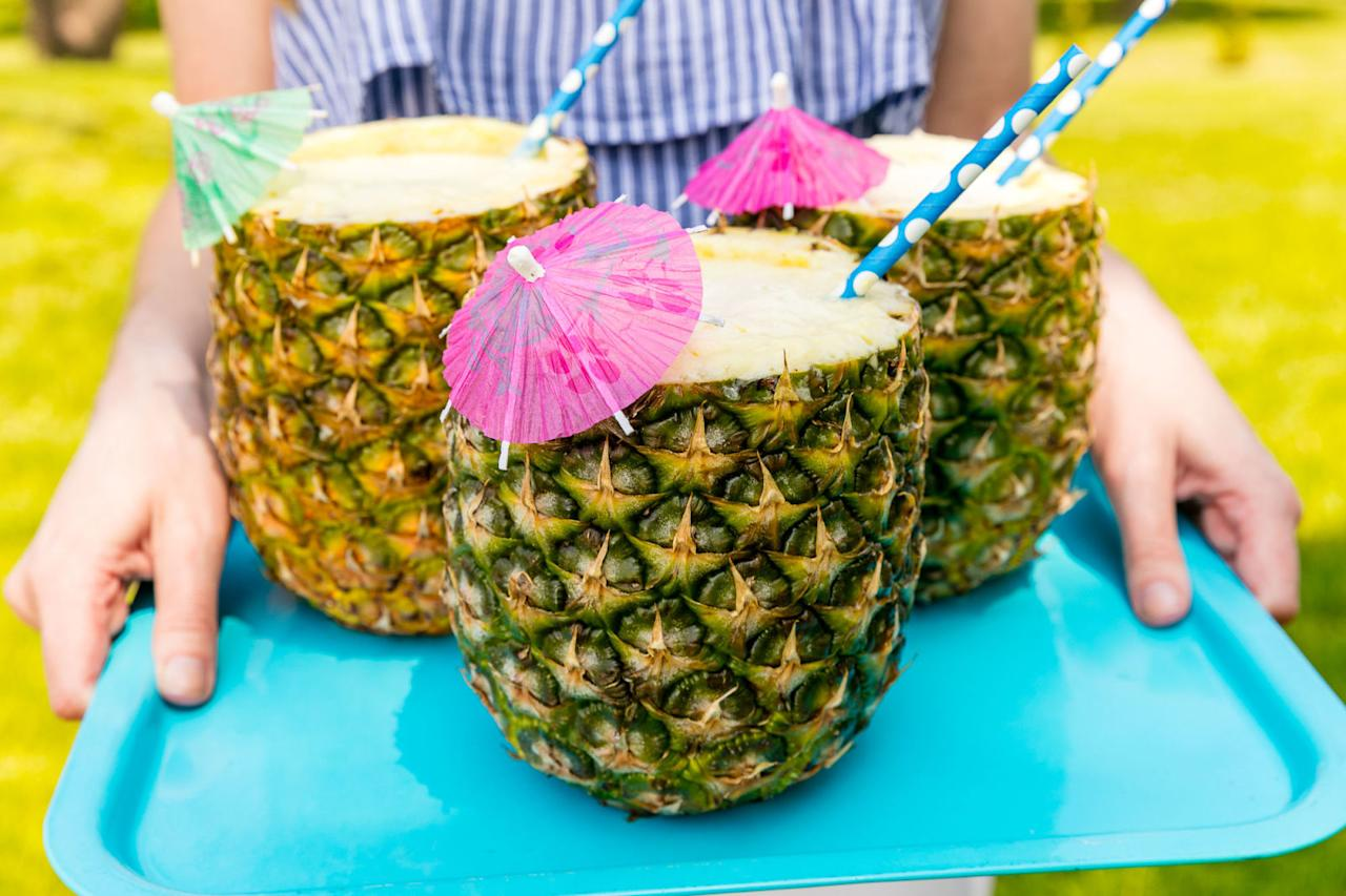"""<p>Master the art of tiki mixology. </p><p>Get the recipe from <a rel=""""nofollow"""" href=""""http://www.delish.com/cooking/recipes/a47276/pina-colada-pineapple-cups/"""">Delish</a>.</p>"""