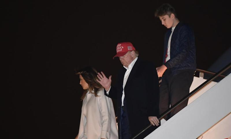 Trump and his family return to Washington after a Thanksgiving break in Florida.