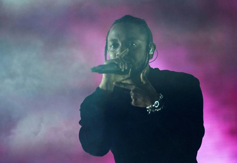 Rapper Kendrick Lamar -- seen here at the Coachella festival in 2017 -- will headline the Super Bowl halftime show along with Dr Dre, Snoop Dogg, Eminem and Mary J. Blige (AFP/VALERIE MACON)