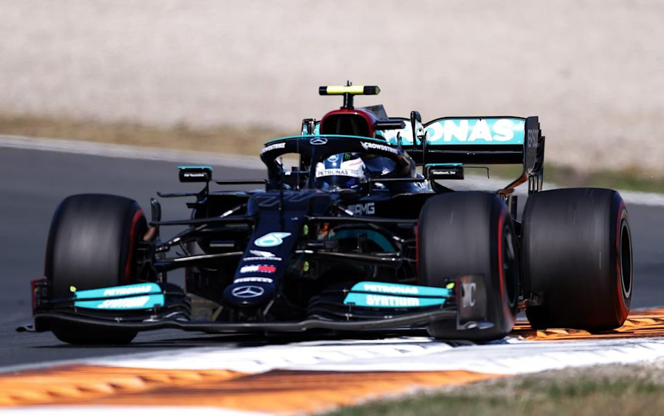 Valtteri Bottas of Finland driving the (77) Mercedes AMG Petronas F1 Team Mercedes W12 during the F1 Grand Prix of The Netherlands at Circuit Zandvoort on September 05, 2021 in Zandvoort, Netherlands - Lars Baron/Getty Images