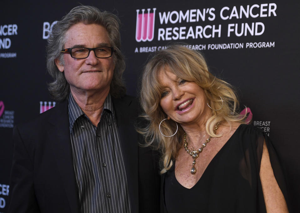 Kurt Russell and Goldie Hawn attend a Women's Cancer Research Fund benefit gala on February 28, 2019. (Photo by Frazer Harrison/Getty Images)