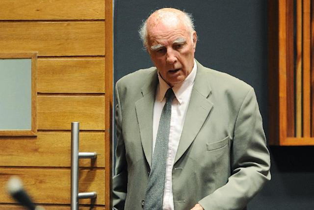 Bob Hewitt's name was removed from the International Tennis Hall of Fame after a series of sexual abuse allegations against him surfaced in 2013 (AFP Photo/Gordon Harnols)