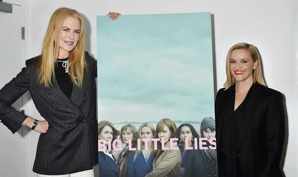 LOS ANGELES, CA - NOVEMBER 11: Nicole Kidman and Reese Witherspoon attend the HBO