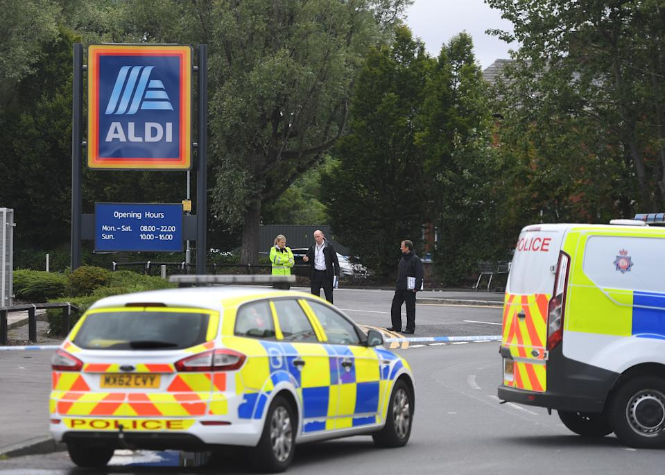 Police called to Aldi Gorton following reports of a stabbing . 15 August 2021