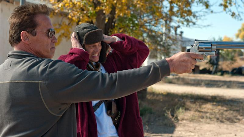 Arnold Schwarzenegger and Johnny Knoxville in 'The Last Stand' (Photo: Lionsgate)
