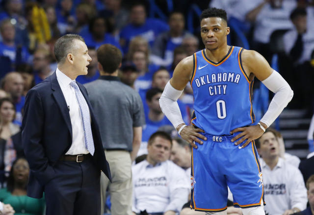 The Thunder believe Billy Donovan and Carmelo Anthony can reinvent themselves next year. (AP)