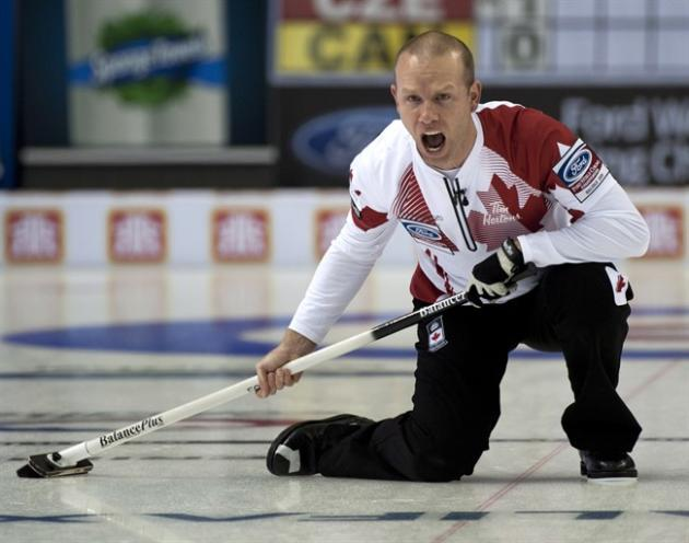 Canadian skip Pat Simmons sets the tone at the world championship tournament. THE CANADIAN PRESS/HO-Michael Burns