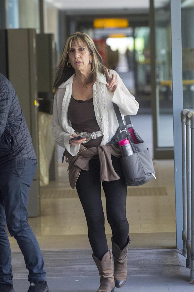 <p>Tracy Dooley, who was once married to Meghan's half brother Thomas Markle Jr, touched down with her sons Tyler and Thomas Dooley (who are Meghan's nephews) and 13 suitcases. </p>
