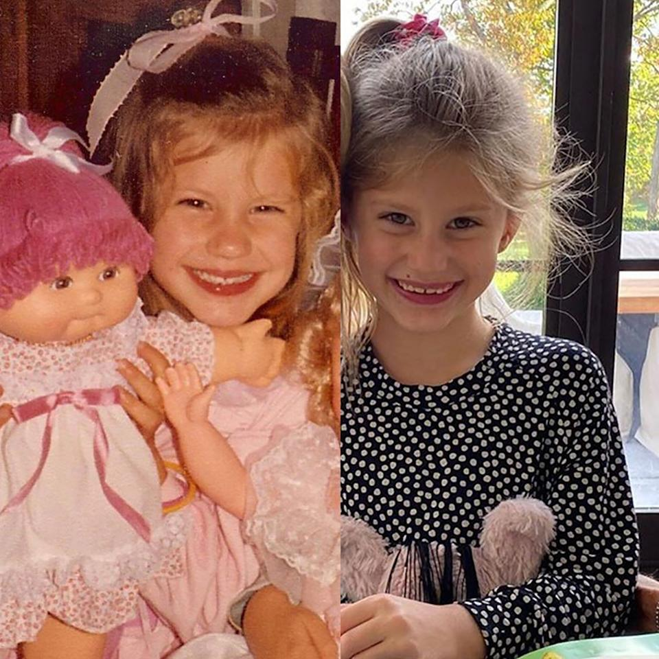 The supermodel and her daughter look nearly identical at 6 years old.