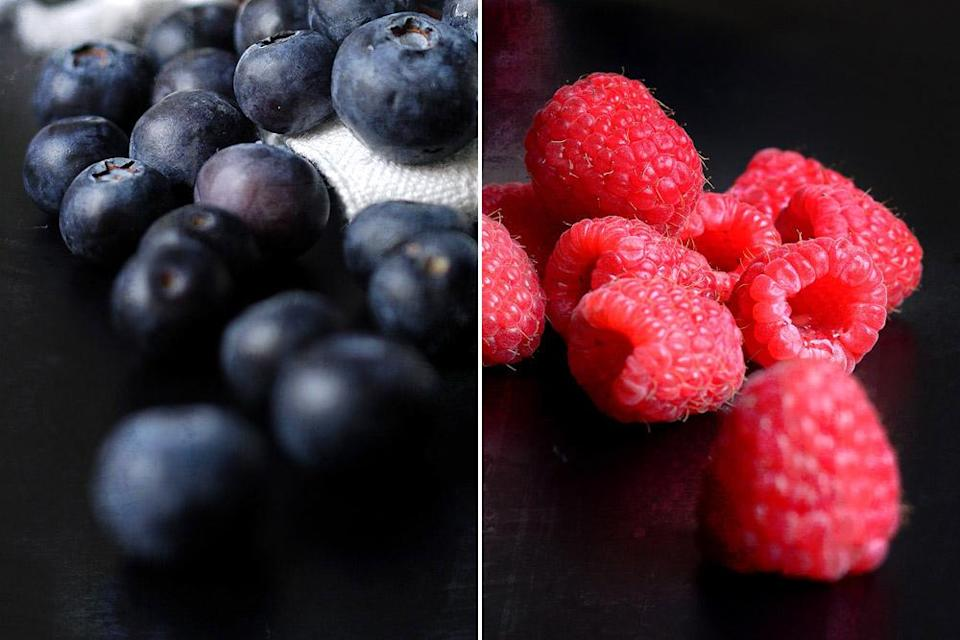 Make use of whatever berries you have on hand, such as blueberries or raspberries.