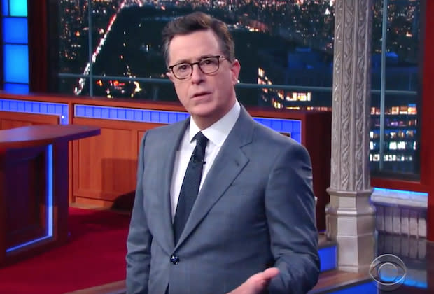 Stephen Colbert Commends Donald Trump On Reaction To Virginia Shooting