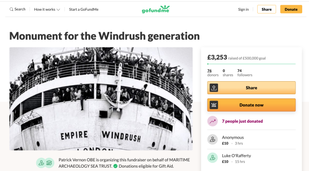 The fundraiser is aiming for £500,000, with the remaining £1.5m hoped to come from major sponsors. (GoFundMe)
