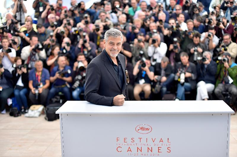 "US actor George Clooney told journalists at Cannes, ""There is not going to be a President Donald Trump"""