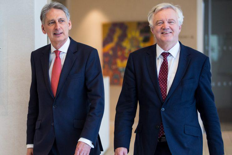 Chancellor Philip Hammond and Brexit secretary David Davis see things differently (Jack Taylor - WPA Pool/Getty Images)