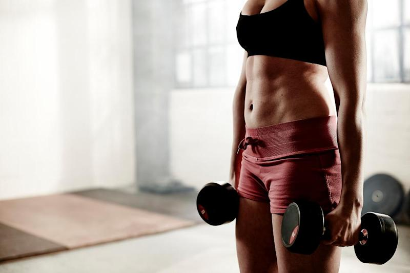Lifting weights helps burn more fat.