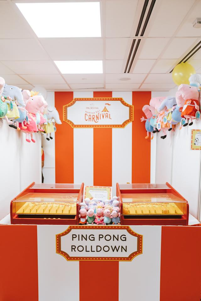 <p>More than a million prizes from Marvel and Pixar can be won from the carnival games. (Photo: Prudential Marina Bay Carnival) </p>