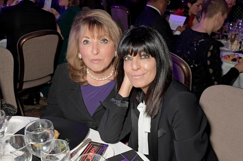 Eve Pollard and Claudia Winkleman attend the Women in Film and TV Awards 2019 at Hilton Park Lane on December 06, 2019 in London, England. (Photo by David M. Benett/Dave Benett/Getty Images for Women in Film and TV)
