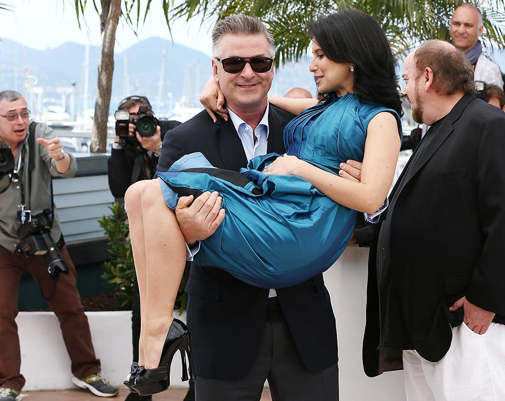 CANNES, FRANCE - MAY 21:  Actor Alec Baldwin and Hilaria Baldwin attend the 'Seduced And Abandoned' Photocall during The 66th Annual Cannes Film Festival at the Palais des Festivals on May 21, 2013 in Cannes, France.  (Photo by Andreas Rentz/Getty Images)