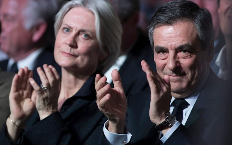 A French newspaper claimed Penelope Fillon had earned £600,000 as a parliamentary assistant to her husband despite doing little work - REX
