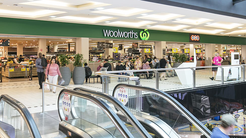 Customers engaged in a confrontation where one pulled a knife out on the other, at a Woolworths at Westfield Parramatta. Source: AAP