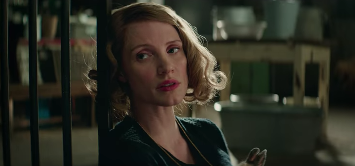 Jessica Chastain in 'The Zookeeper's Wife'