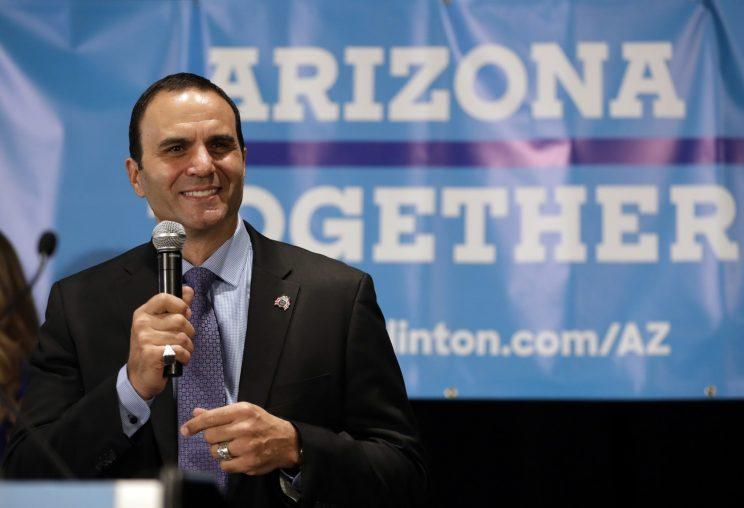 In this Nov. 8, 2016, file photo, Paul Penzone addresses supporters at an election party in Phoenix. (Photo: Matt York, File/AP)