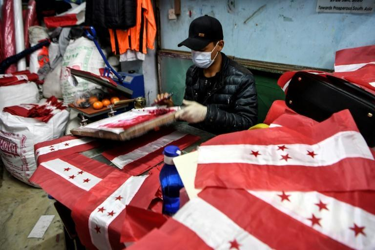 Major shops in Nepal are selling up to 3,000 flags a day