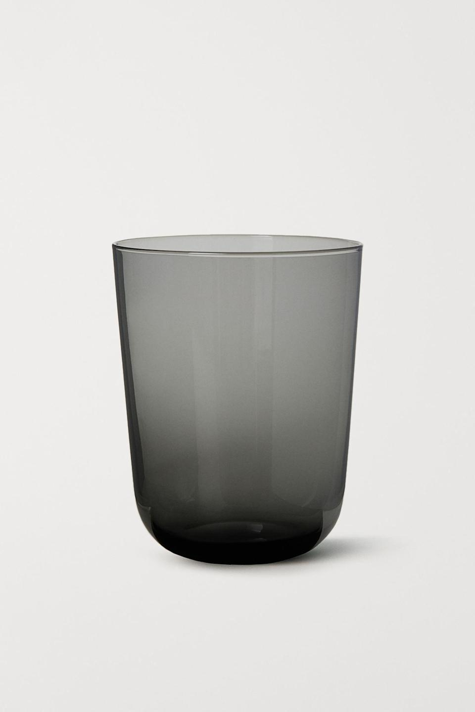 <p>If you're into smoky glassware, try this <span>H&amp;M Beverage Glass</span> ($5), which is an absolute steal.</p>