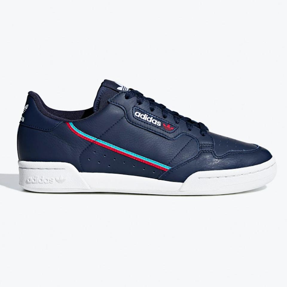 "<p><strong>adidas</strong></p><p>adidas.com</p><p><strong>$80.00</strong></p><p><a href=""https://go.redirectingat.com?id=74968X1596630&url=https%3A%2F%2Fwww.adidas.com%2Fus%2Fcontinental-80-shoes%2FB41670.html&sref=http%3A%2F%2Fwww.bestproducts.com%2Fmens-style%2Fg2885%2Fnew-adidas-shoes-for-men%2F"" target=""_blank"">Shop Now</a></p><p>This '80s-inspired new release is <em>so</em> 2019, with a sleek leather upper and two-tone stripe that's perfect to wear all week long. When paired with your business casual 9-to-5 duds, you'll look like a cool creative professional while enjoying the comfy feel of a sneaker that your typical Oxfords just can't compete with. </p><p>Basically, these new adidas shoes make every day feel like Sunday funday.  </p>"