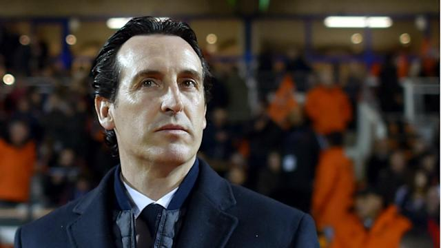 Paris Saint-Germain boss Unai Emery insists he is focused solely on the present amid rumours surrounding his future in the French capital.
