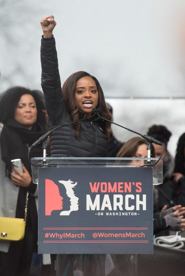 <br>Women's March co-founder Tamika Mallory has come under fire this week. (Photo: Getty Images)