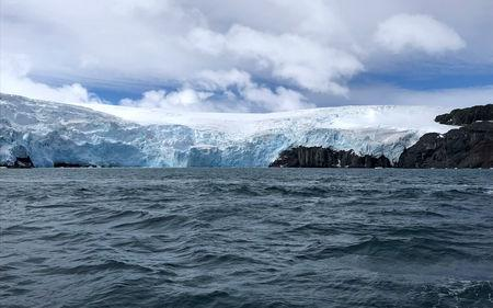FILE PHOTO: The Collins Glacier is seen in the Fildes Bay, on King George island, Antarctica, Chile February 2, 2019. REUTERS/Fabian Cambero