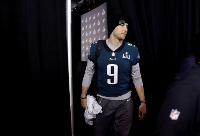 Philadelphia Eagles quarterback Nick Foles will start Sunday's Super Bowl LII. (AP)