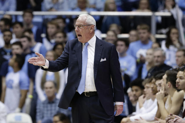 The Tar Heels fell to Clemson at home for the first time ever, and coach Roy Williams appears to have hit rock bottom. (AP/Gerry Broome)
