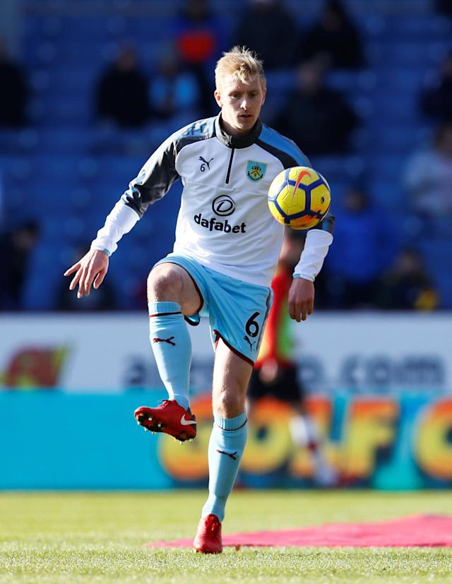 "Soccer Football - Premier League - Burnley vs Southampton - Turf Moor, Burnley, Britain - February 24, 2018 Burnley's Ben Mee during the warm up before the match Action Images via Reuters/Jason Cairnduff EDITORIAL USE ONLY. No use with unauthorized audio, video, data, fixture lists, club/league logos or ""live"" services. Online in-match use limited to 75 images, no video emulation. No use in betting, games or single club/league/player publications. Please contact your account representative for further details."
