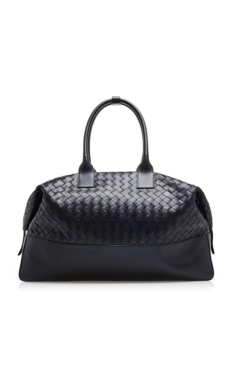 "<p><strong>Bottega Veneta </strong></p><p>modaoperandi.com</p><p><strong>$4390.00</strong></p><p><a href=""https://go.redirectingat.com?id=74968X1596630&url=https%3A%2F%2Fwww.modaoperandi.com%2Fbottega-veneta-r20%2Flarge-intrecciato-leather-travel-tote&sref=https%3A%2F%2Fwww.harpersbazaar.com%2Ffashion%2Ftrends%2Fg4473%2Fmens-holiday-gift-guide%2F"" rel=""nofollow noopener"" target=""_blank"" data-ylk=""slk:Shop Now"" class=""link rapid-noclick-resp"">Shop Now</a></p><p>If he is a fashion devotee, get him a bag from the brand that is all the rage with the street style stars. </p>"