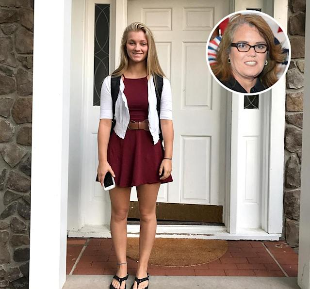 "<p>Raising kids isn't easy, as Rosie O'Donnell knows, but the milestones are special. Here's her daughter with Kelli Carpenter heading off to high school. ""Again,"" is the caption Ro used. (Photos: <a href=""https://www.instagram.com/p/BYq57DfHd9J/?hl=en&taken-by=rosie"" rel=""nofollow noopener"" target=""_blank"" data-ylk=""slk:Rosie O'Donnell via Instagram"" class=""link rapid-noclick-resp"">Rosie O'Donnell via Instagram</a>/Getty Images)<br><br></p>"