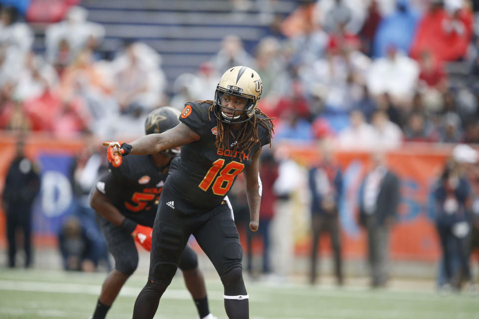 Linebacker Shaquem Griffin of Central Florida wasn't invited to the combine until late January. Now he's the event's unquestionable star. (AP)